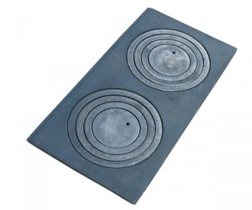 gussplatte zum ofen 2 loch noten k che gusseisen 60x30cm ohne falz cast iron ebay. Black Bedroom Furniture Sets. Home Design Ideas
