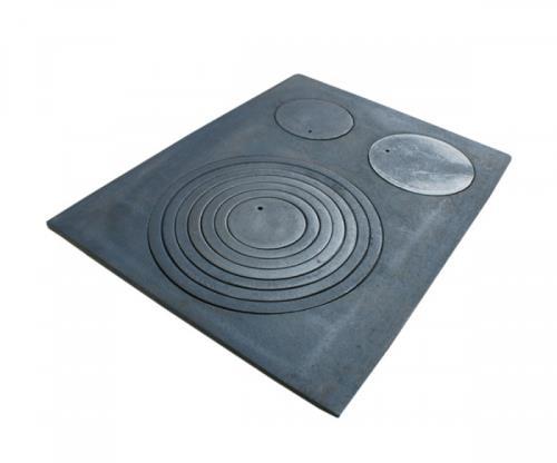 gussplatte platte noten k che ofen 3 loch gusseisen 64x48cm cast iron grauguss ebay. Black Bedroom Furniture Sets. Home Design Ideas