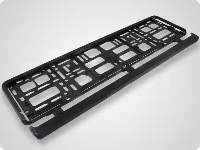 2 x kennzeichenhalter eu kfz halter halterung kennzeichen schwarz 520x110mm ebay. Black Bedroom Furniture Sets. Home Design Ideas