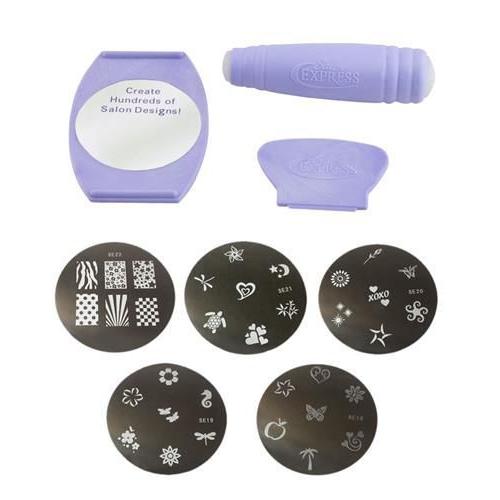 nagelstempel tattoo nailart schablonen stamp nail art stamping set 34 mustern ebay. Black Bedroom Furniture Sets. Home Design Ideas