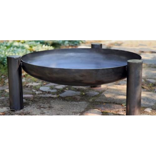 feuerschale 80cm grill gartenfeuer lagerfeuer feuerstelle auf hohen beinen. Black Bedroom Furniture Sets. Home Design Ideas