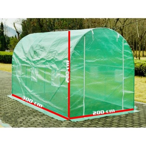 6m gew chshaus mit stahlfundament garten pflanzenhaus 3x2m xl folienzelt ebay. Black Bedroom Furniture Sets. Home Design Ideas