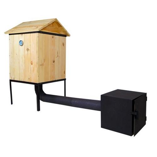 r ucherofen traditioneller r ucherofen aus holz mit. Black Bedroom Furniture Sets. Home Design Ideas