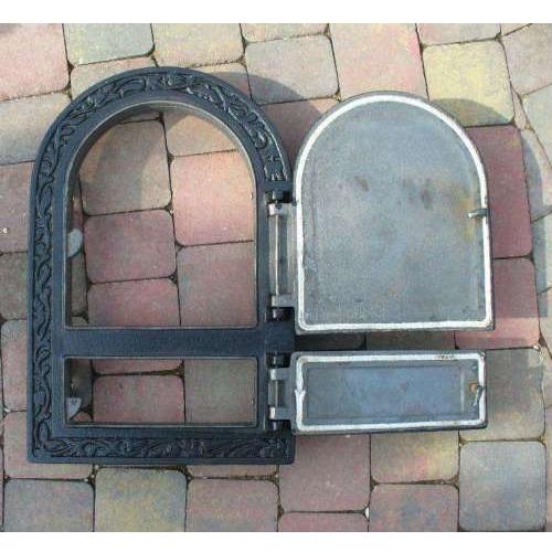 Cast iron oven door bread pizza oven iron door 49 x 32 for Door 2 door pizza