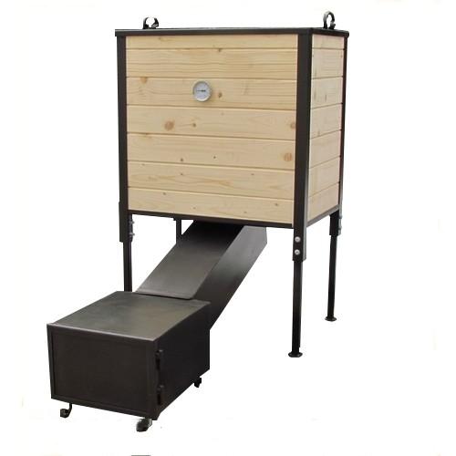 r ucherofen r ucherofen aus holz mit feuerkammer. Black Bedroom Furniture Sets. Home Design Ideas