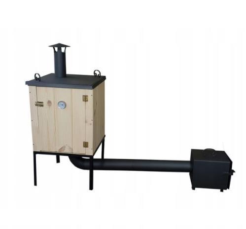 Räucherofen mit Kamin traditioneller Fuerkammer Smoker Räucherkammer 50x50x80 cm